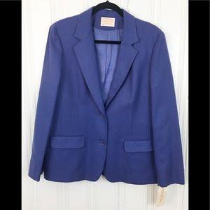 NWT Pendleton 100% Virgin Wool Blue Jacket Blazer
